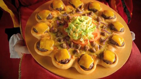 Cheeseburger Crust Pizza